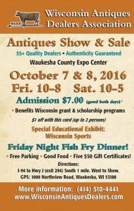 Wisconsin Antiques Dealers Association Show @ Waukesha Expo Center | Waukesha | Wisconsin | United States