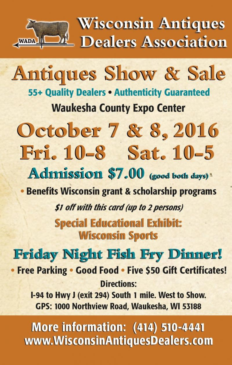Wisconsin Antiques Dealers Association Show and Sale