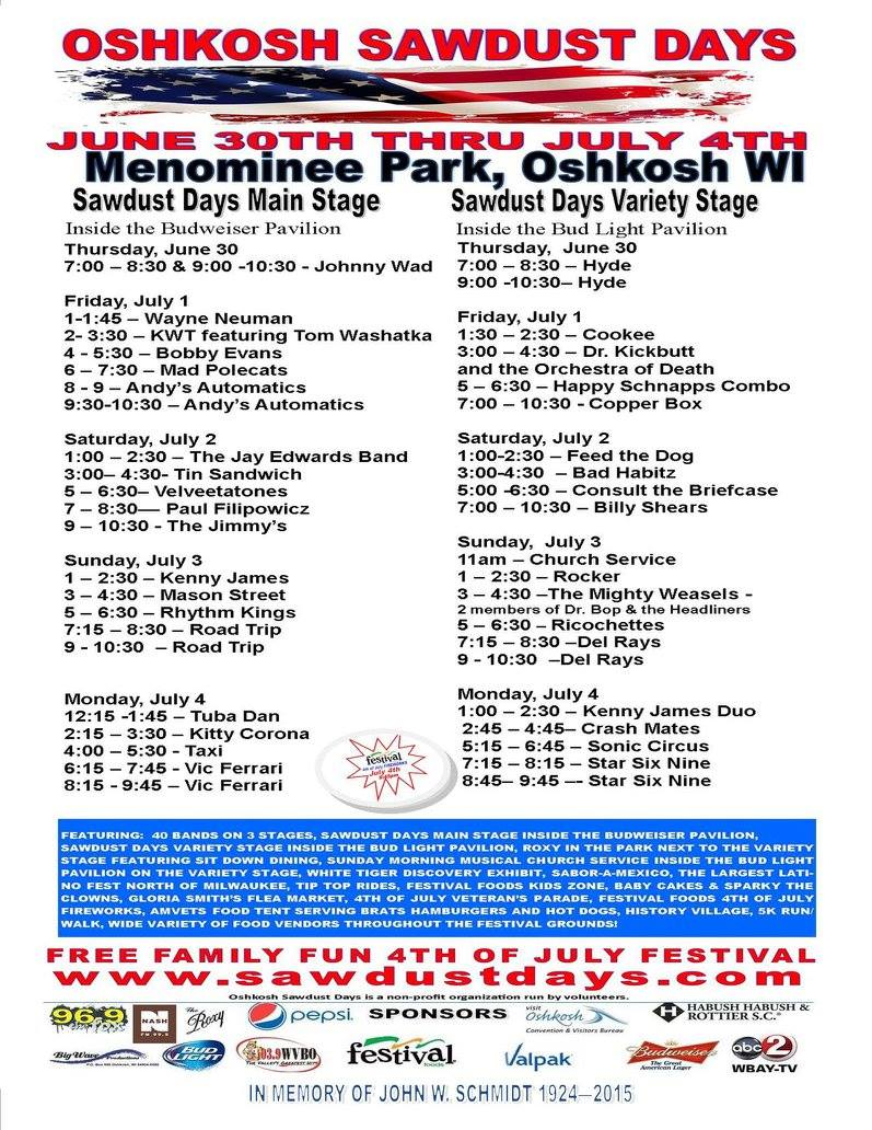Oshkosh Sawdust Days Flea Market
