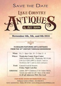 Waukesha - Lake Country Antiques & Art Show @ Waukesha County Expo   Waukesha   Wisconsin   United States