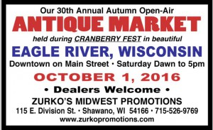 Eagle River Antique Market - Cranberry Fest @ Eagle River Cranberry Fest | Eagle River | Wisconsin | United States
