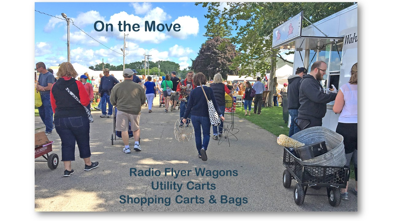 Carts and Wagons for Shopping at a Flea Market