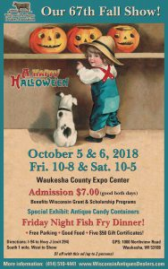 Wisconsin Antique Dealers Association Show 2018 @ Waukesha County Expo Center Forum Building | Waukesha | Wisconsin | United States