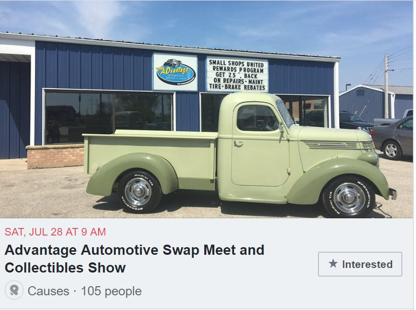Advantage Automotive Swap Meet and Collectibles Show